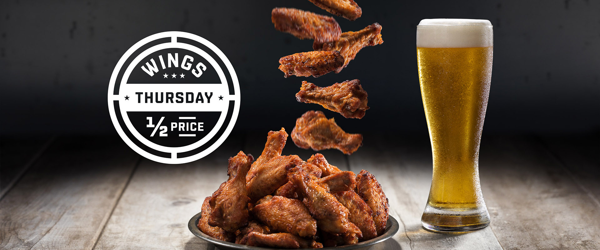 Half price wings Thursdays