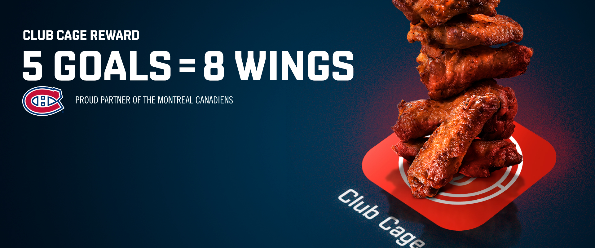 5 goals = 8 free wings reward